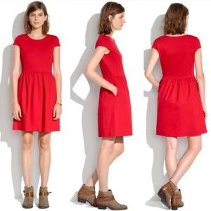Madewell Ponte Screenplay Burnt Orange Dress